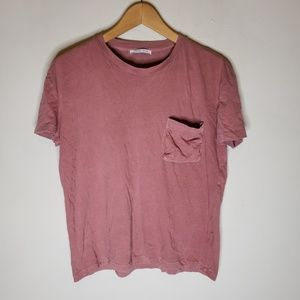 Zara Blush Pink Crew Neck T Shirt Small